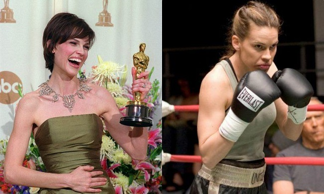 "Hillary Swank in ""Million Dollar Baby"