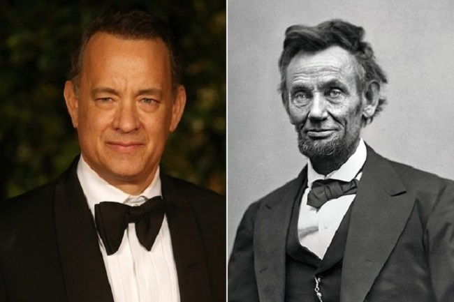 Abraham Lincoln and Tom Hanks