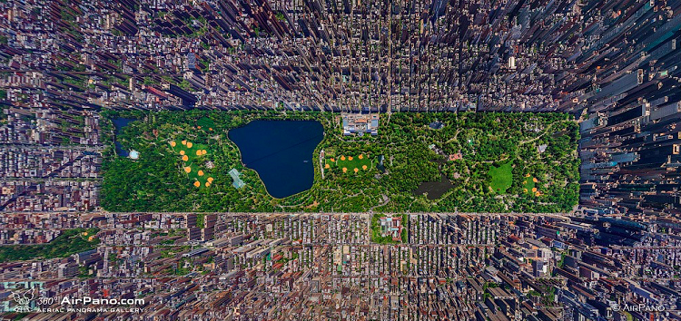 Central Park in New York Birds eyeview