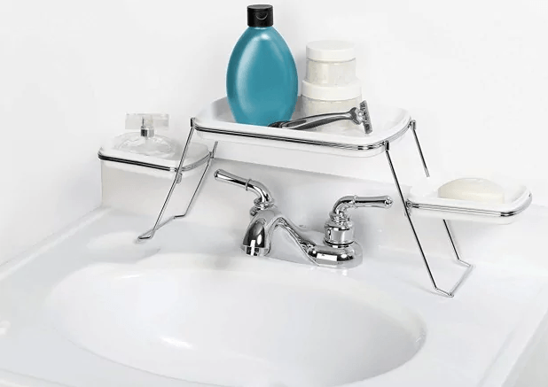 shelf over the faucet