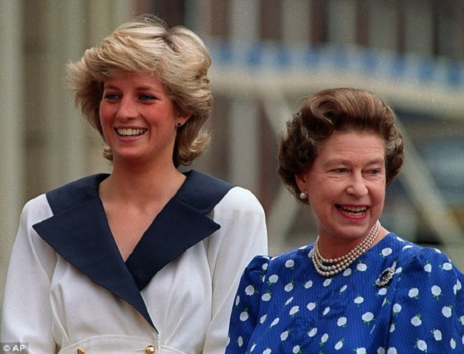 queen and princess diana