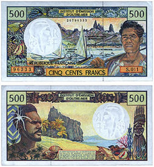 Pacific Franc – the currency of Tahiti Islands